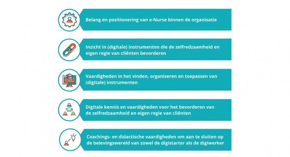 Organisatorische voorwaarden en competenties van de e-Nurse